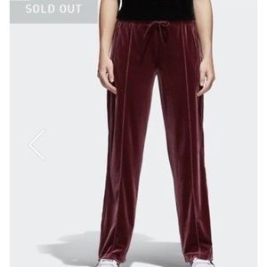 f02014d409b adidas Pants - Adidas maroon velvet vibes pants sz M